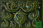 Плитка H& E Smith Classic Англия Зелёный Декор BCTILES0012398 Pomegranate Panel 228x152x10mm Victorian Green