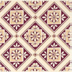 Плитка Johnson Tiles Minton Hollins Англия Бордовый Декор BCTILES0004261 BTCE4E Beatrice maroon decorative wall tile 150x150mm
