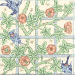 Плитка Johnson Tiles Minton Hollins Англия Бежевый Декор BCTILES0015199 WMTL1F Trellis field tile 150x150mm